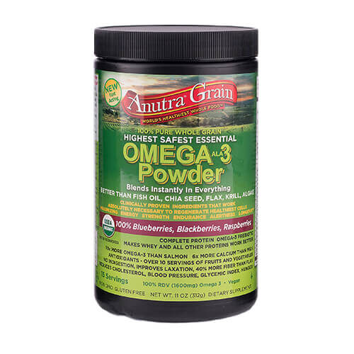 anutra grain omega 3 powder mixed blueberries blackberries raspberries