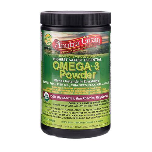 anutra grain omega 3 powder mixed blueberries blackberries raspberries