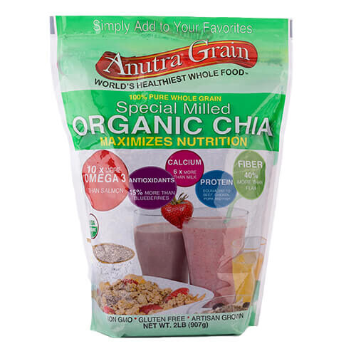 anutra grain special milled organic chia