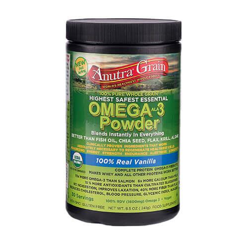 Anutra Omega 3 powder 100% real vanilla