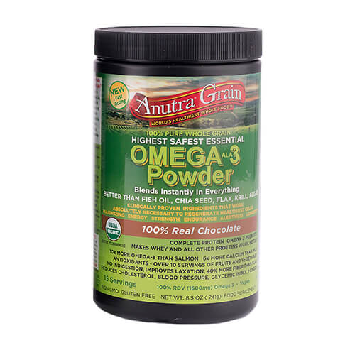anutra grain omega 3 powder 100% real chocolate
