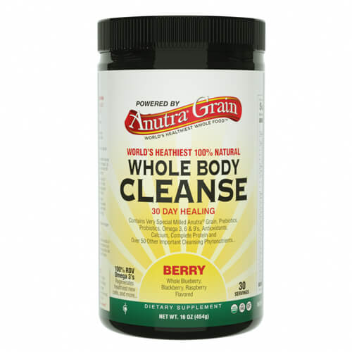 anutra grain whole body cleanse berry
