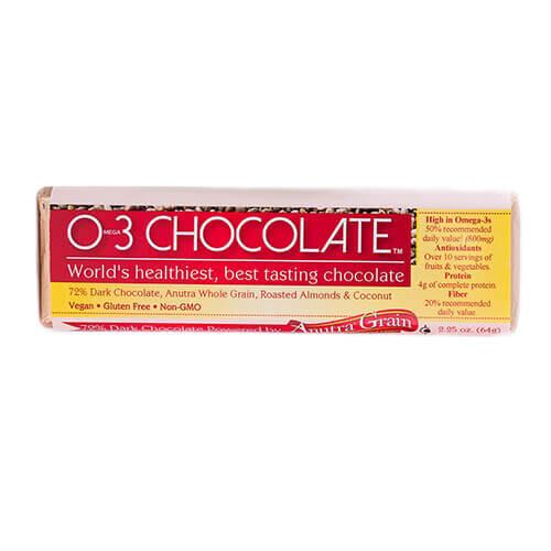 anutra omega 3 o3 chocolate bar