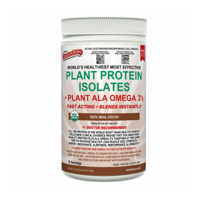 anutra plant protein 100% real cocoa