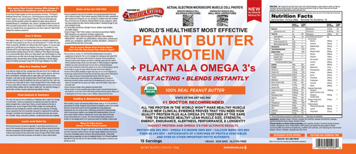 anutra plant protein 100% Real Peanut Butter