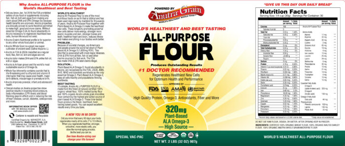 Anutra All-Purpose Flour Label