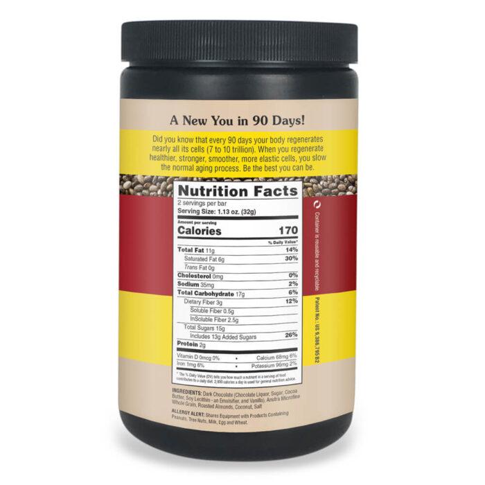 Anutra O3 Chocolate Nutrition Label