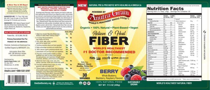 Anutra Fiber Label Full