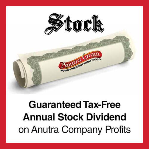 Anutra Guaranteed Tax-Free Annual Stock Dividend on Anutra Company Profits