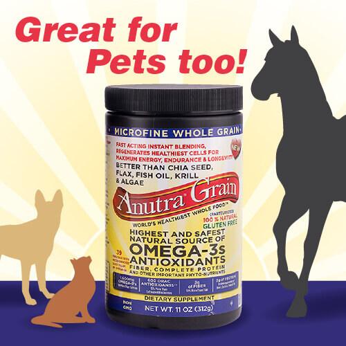 Anutra ALA Omega-3 Microfine For Pets, Too!