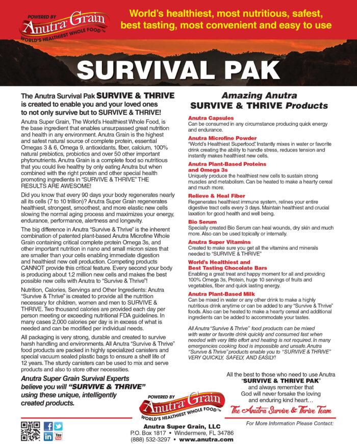 Survive and Thrive V2 Flyer Back